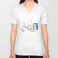 whales V-neck T-shirts featuring Whales by Spirit Tooth