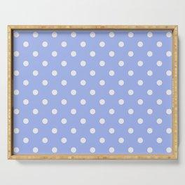 Pastel Polka Dot Blue & White Pattern Serving Tray