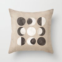 moon phases Throw Pillows featuring Moon Phases by cegphotographics