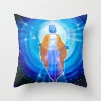 jesus Throw Pillows featuring Jesus by Walter Zettl