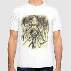 hair locked face. MEDIUM Mens Fitted Tee White