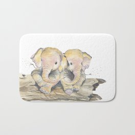 Happy Little Elephants Bath Mat