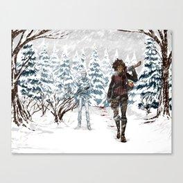 Under the Dead Skies - Snow Canvas Print