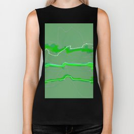 Fluffy lines twisting and turning no. 17 Biker Tank