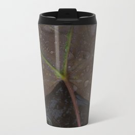 Brown Leaf Metal Travel Mug