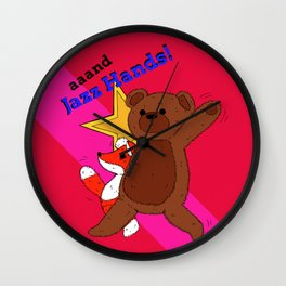 aaand Jazz Hands! Wall Clock