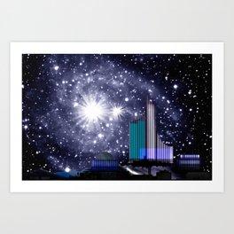 Wonderful starry night. Art Print