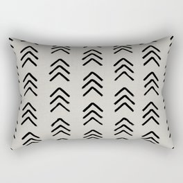 Black ink brushed arrow heads Rectangular Pillow