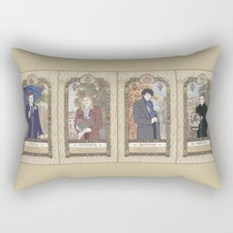 Sherlock Victorian Language of Flowers Four Seasons Rectangular Pillow