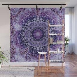 Lilac Boho Brocade Mandala Wall Mural
