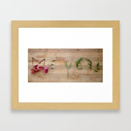 me and you 1 Framed Art Print