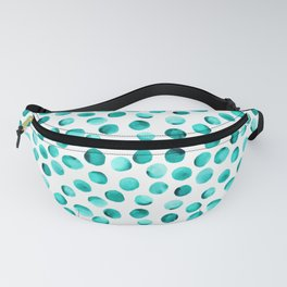 Watercolor Dots // Turquoise Fanny Pack