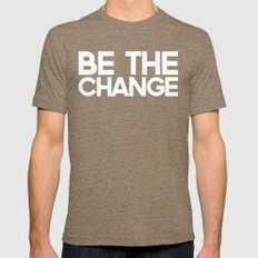 Be the Change Tri-Coffee MEDIUM Mens Fitted Tee