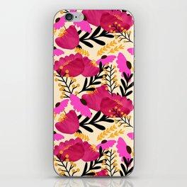 Vibrant Floral Wallpaper iPhone Skin
