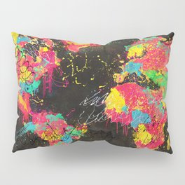 Psichedelic Continents Pillow Sham