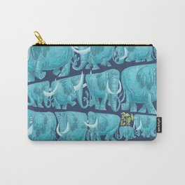Pachyderm Parade Blue Carry-All Pouch