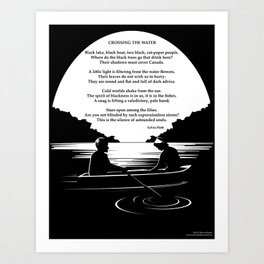 Crossing the Water (poem) by Sylvia Plath Art Print