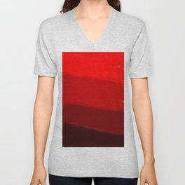 Ombre in Red Unisex V-Neck