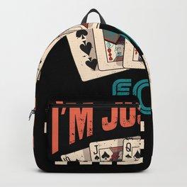 Retro Vintage Gambling and Poker Gift Backpack