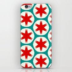 Retro Red Stars II iPhone Skin