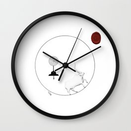 delusional cow Wall Clock