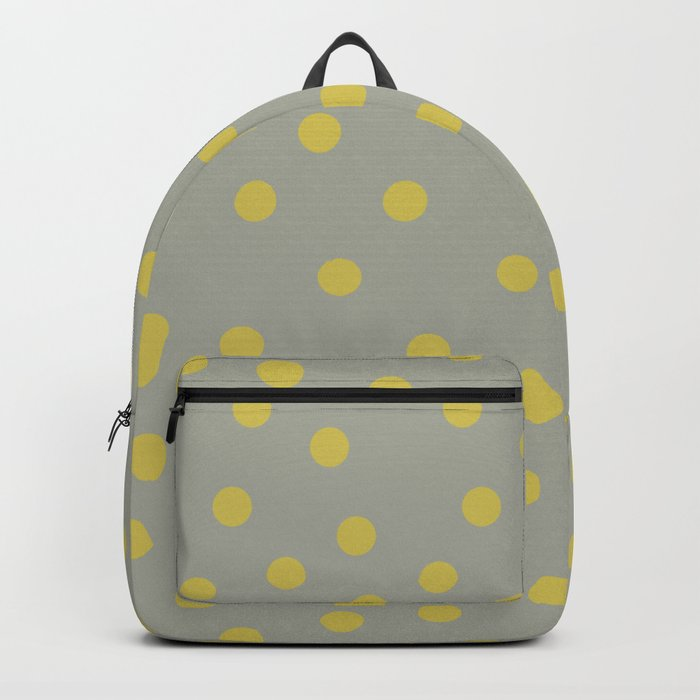 Simply Dots Mod Yellow on Retro Gray Backpack