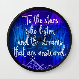 To the stars who listen - ACOMAF inspired Wall Clock