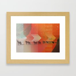 Feed The Right Dogs Framed Art Print
