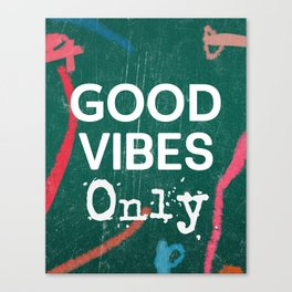 Good vibes only green box Canvas Print