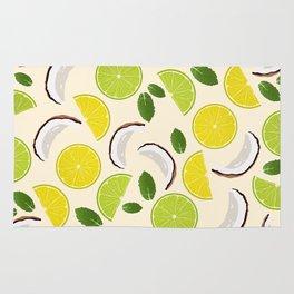 Lime Lemon Coconut Mint pattern Rug