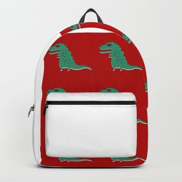 Funny cute tyrannosaurus pattern colorful Backpack