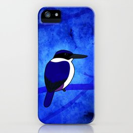 Ultramarine Kingfisher (Todiramphus leucopygius) iPhone Case