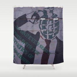 Seizing Power Shower Curtain