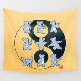 Koala Bear Tai Chi Moves Wall Tapestry