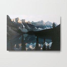 Moraine Lake Sunset Metal Print
