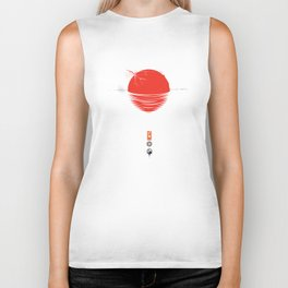 "Japan relief poster/all proceeds will go to ""Peace Winds"" Biker Tank"