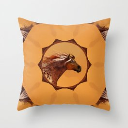 HORSE - An Appaloosa called Ginger Throw Pillow