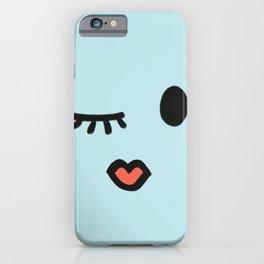 Winky face girl iPhone Case