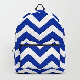 International Klein Blue - blue color -  Zigzag Chevron Pattern Backpack