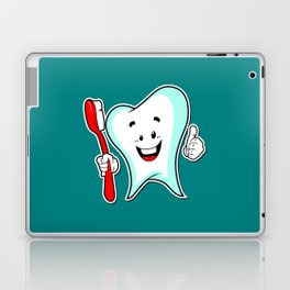 Dental Care happy Tooth with Toothbush Laptop & iPad Skin