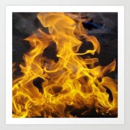Fire Square Art Print