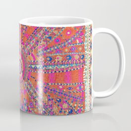 Large Medallion Suzani  Antique Uzbekistan Embroidery Print Coffee Mug