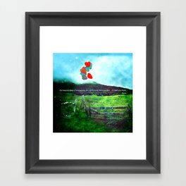 there is a field... I'll meet you there. Framed Art Print
