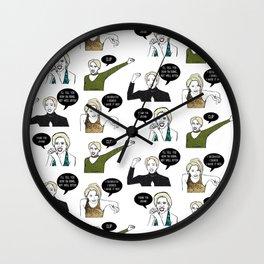 A Medley Print Wall Clock
