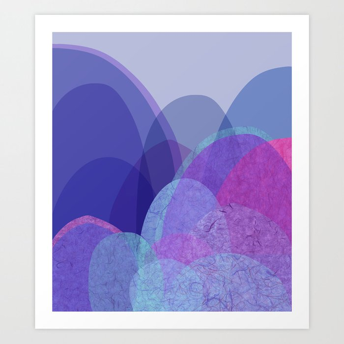 It's not the mountain we conquer but ourselves  Art Print