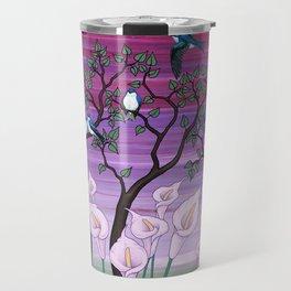 calla lilies & tree swallows Travel Mug
