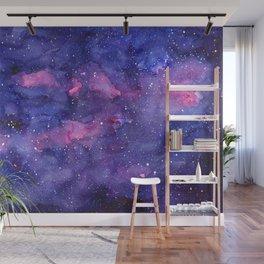 Galaxy Pattern Watercolor Wall Mural