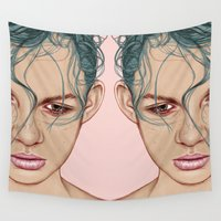 swim Wall Tapestries featuring SWIM by Laura O'Connor