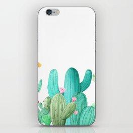 Floral Cactus iPhone Skin