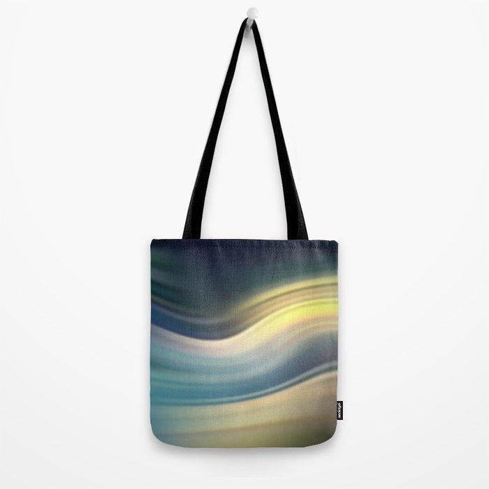 Moonlight Sonata. Abstract modern wavy flowing silk, satin, smooth Tote Bag